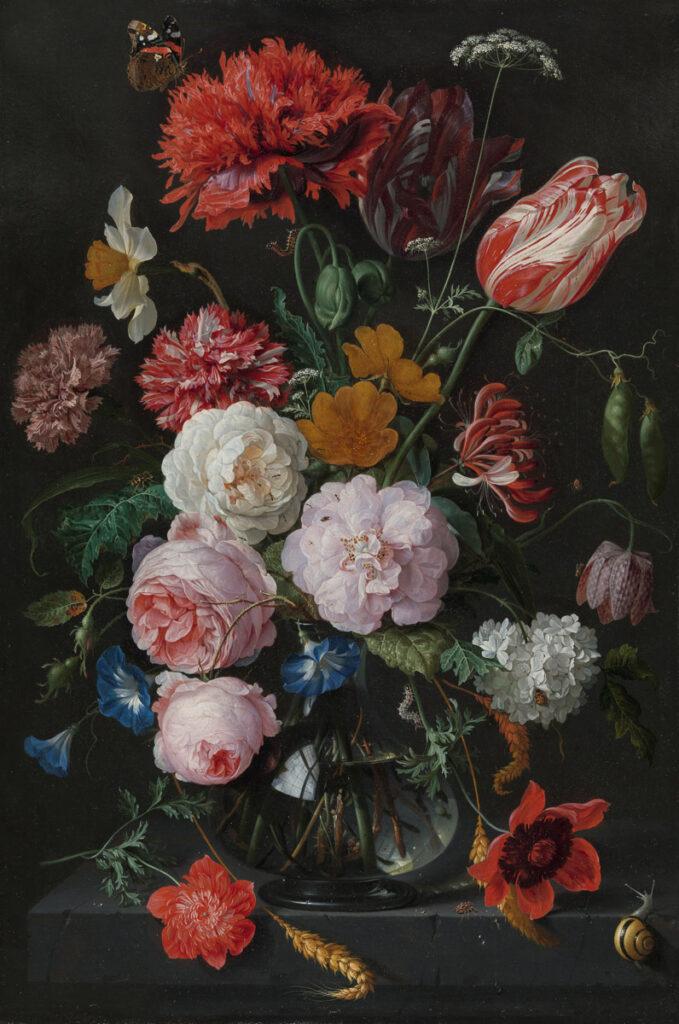 Flower Still Life Painting by Jan Davidsz de Heem