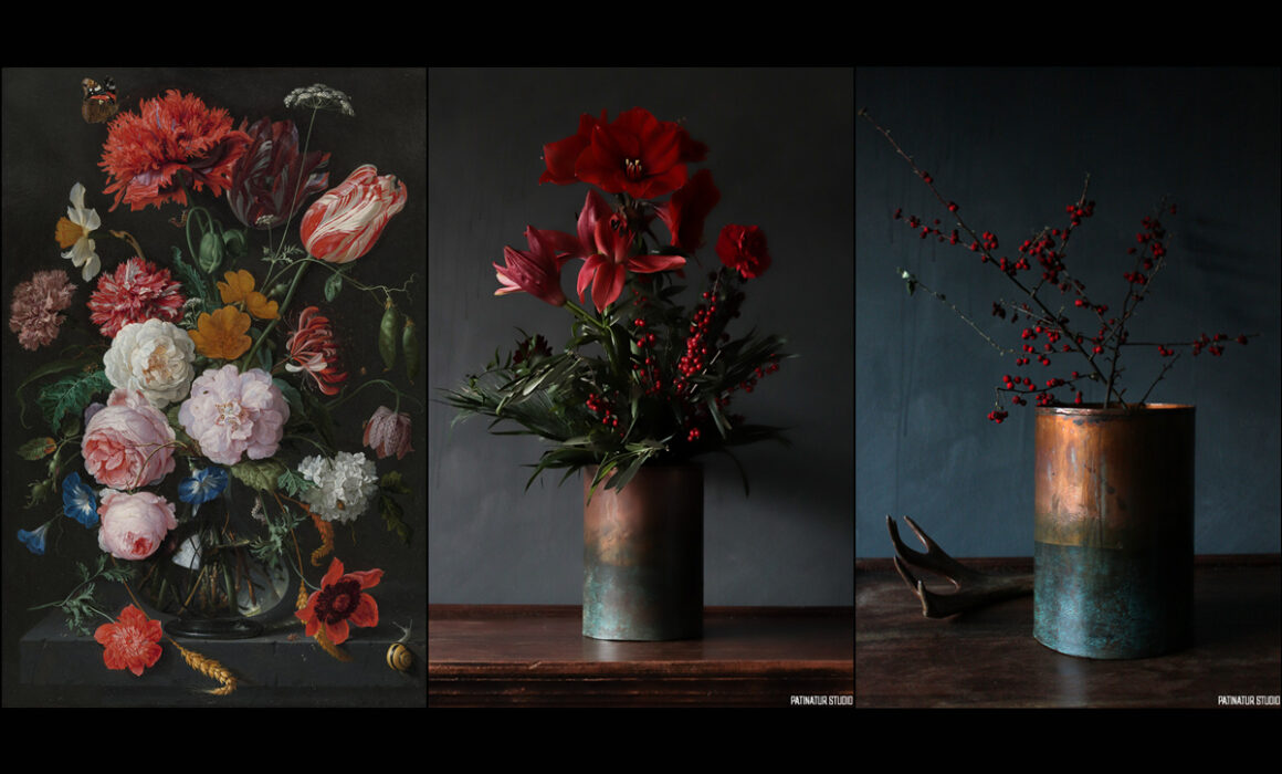Product Photography of Vases Inspired by Dutch Flower Still Lifes