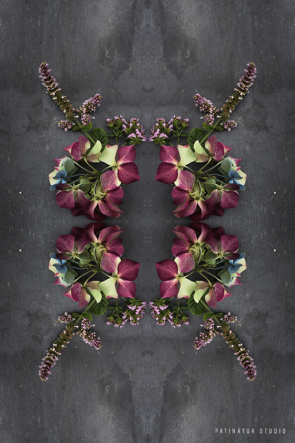 Photo art | Botanical caleidoscope in purple