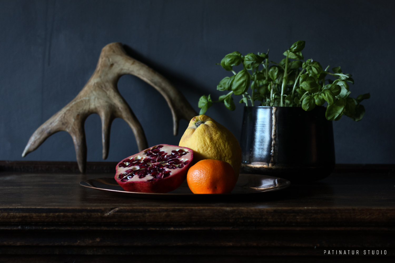 Photo art | Dark and moody still life with veggie banquet