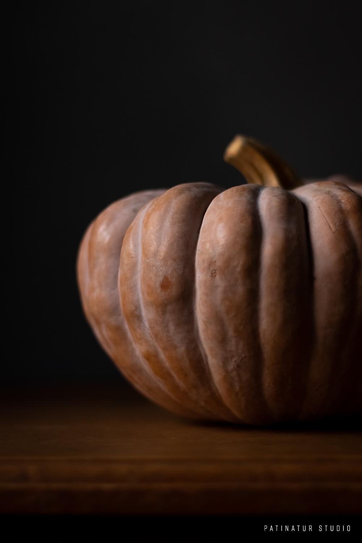 Photo art | Dark and moody still life with pumpkin